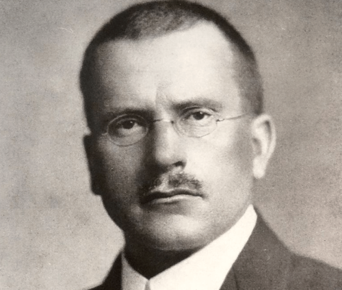 A portrait of Carl Jung.