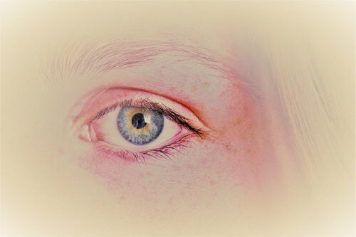 The eye of a woman.