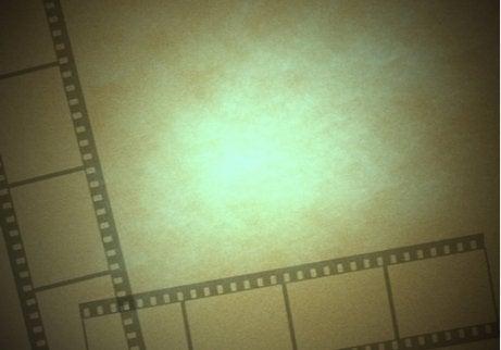 Film strips representing motion blindness.