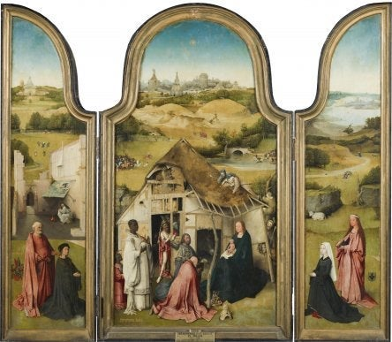 An oil painting by Bosch.