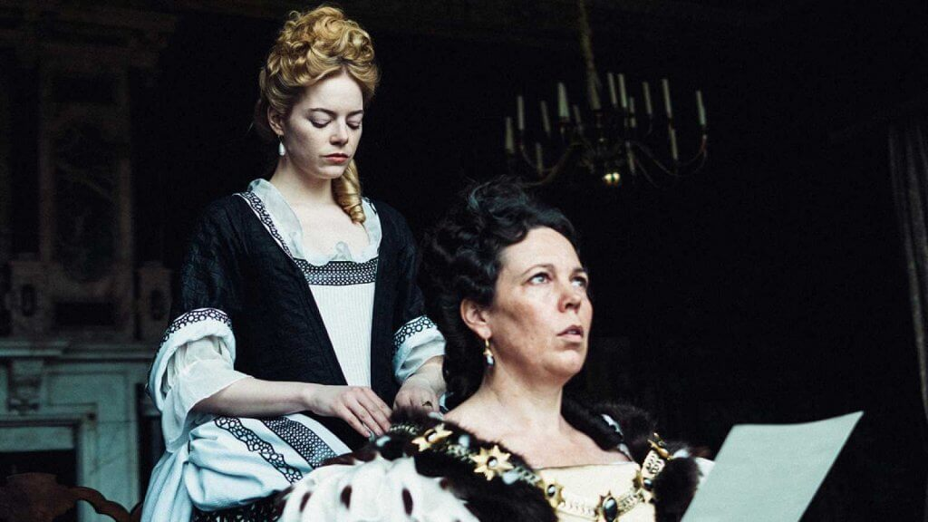 Olivia Colman in The Favorite.