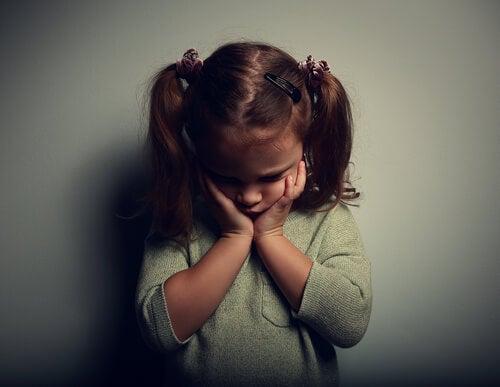 A sad little girl.