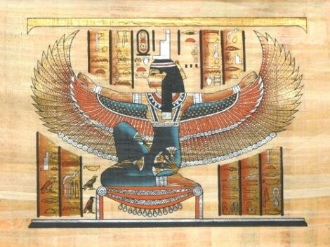 A painting of the Goddess Isis.