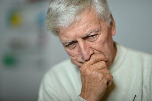 A man depressed due to eternal unemployment.