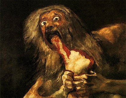 """Saturn Devouring His Son"", one of the most famous pieces of work from Goya's ""Black Paintings""."