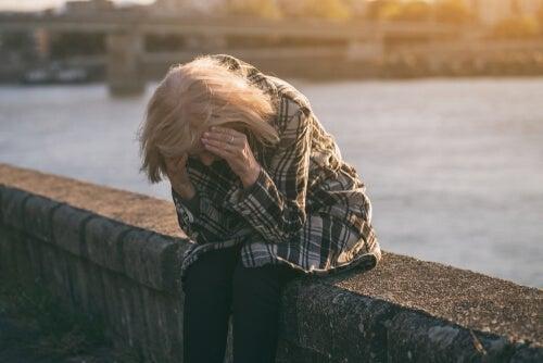 A sad unemployed woman.