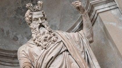 A statue of Zeus.