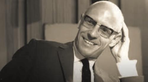 A picture of Michel Foucault.