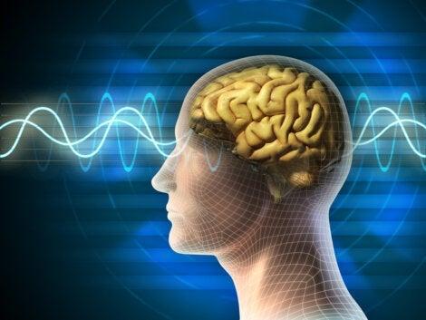 A man with creative brain waves.
