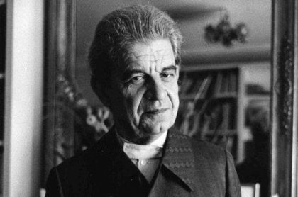 A photo of Jacques Lacan.