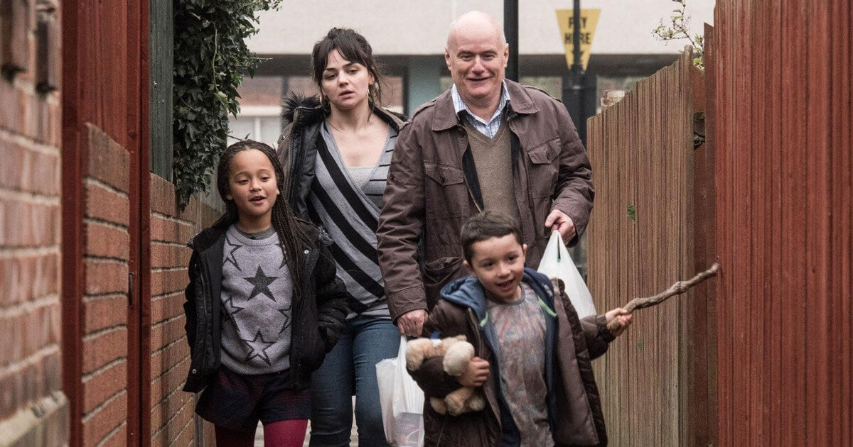 An image of Daniel Blake and his family.