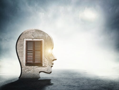 A head with a door.