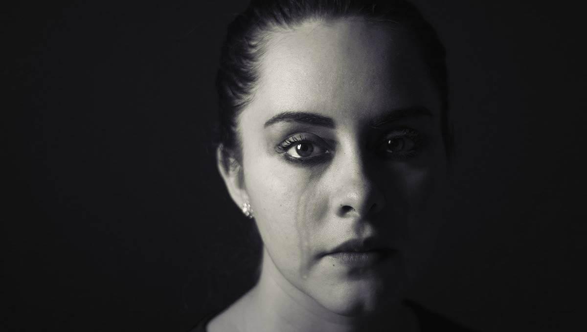 A sad woman.
