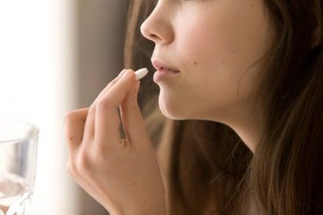 A woman taking naltrexone.