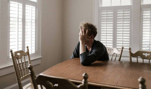 A distressed man.