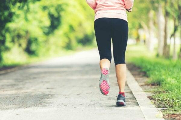 A person jogging.