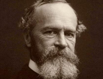 A portrait of William James.