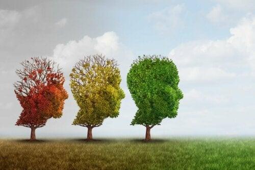 Three trees shapes like people.