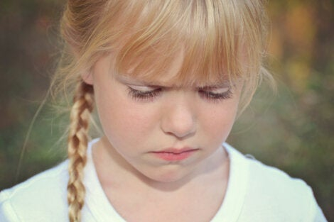 An angry little girl.