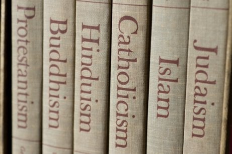 Books of several different religions and the cognitive psychology of religions.