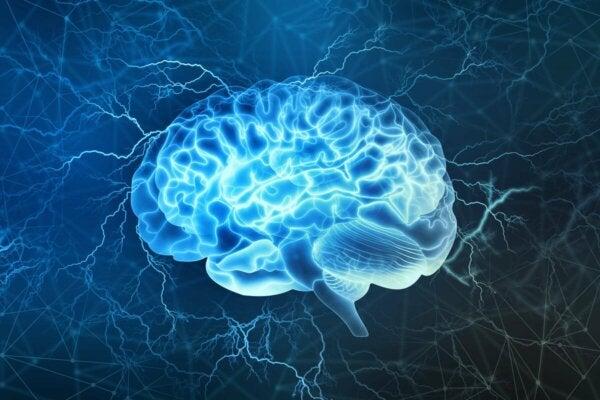 A lit brain.