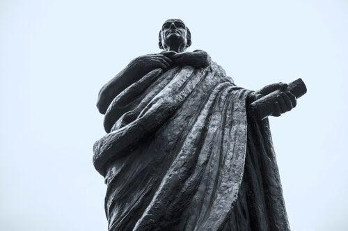 A statue of Seneca.