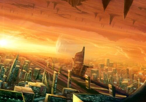An apocalyptic landscape.