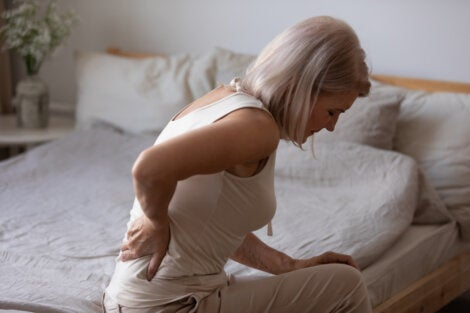 A woman with chronic pain.