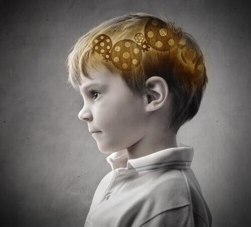 A boy thinking.