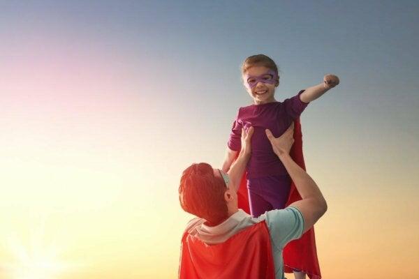 A child superhero.