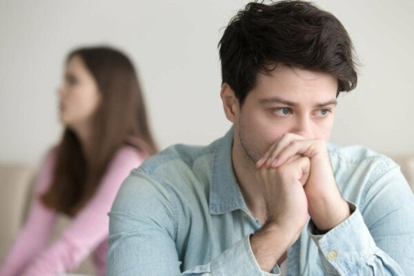 A man thinking.