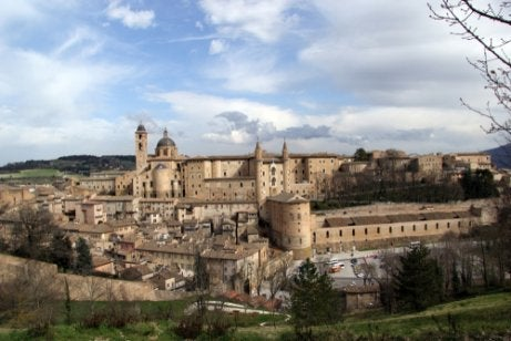 A photo of Urbino, Italy.