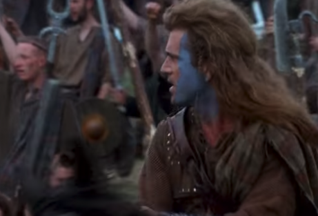 A scene from Braveheart.