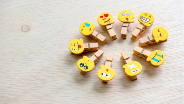 Pegs with faces.