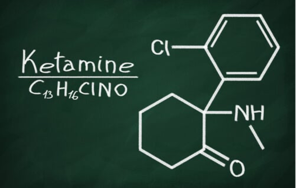 Diagram showing make-up of ketamine.