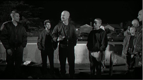 A gang demonstrating sensation-seeking and violence.