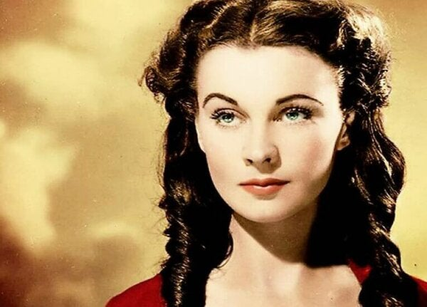 Vivien Leigh looking away.