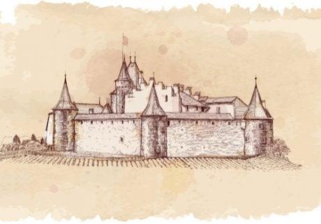 A medieval castle.