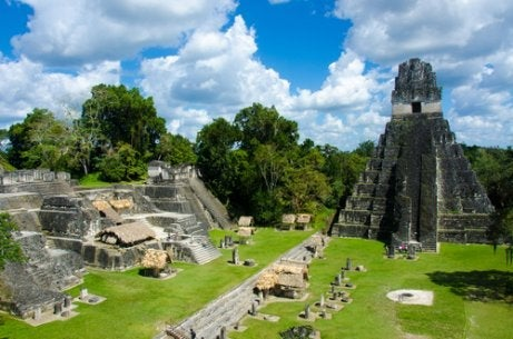A view of Tikal, Guatemala.
