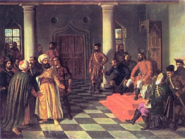 Vlad Tepes with the Turks.