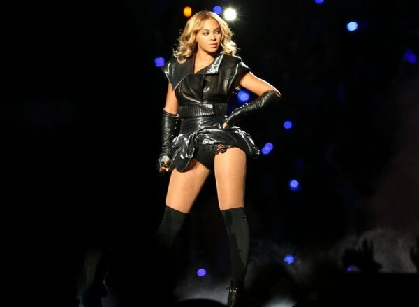 Beyonce in one of her presentations.