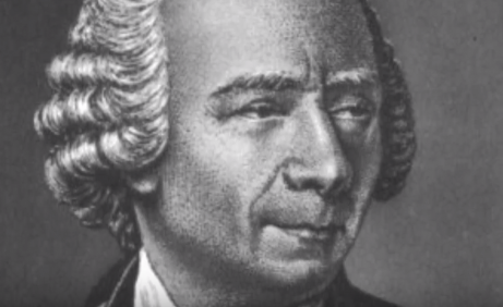 A black and white of Leonhard Euler.