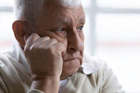 A man looking depressed, perhaps suffering psychotic depression.