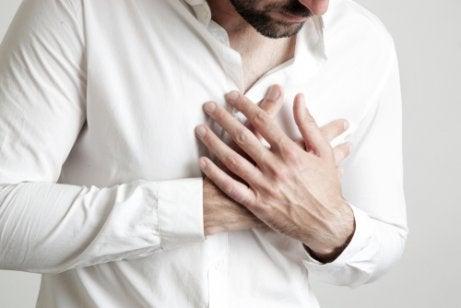 A man with cardiophobia.
