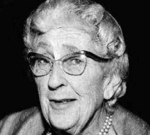 Agatha Christie in old age.