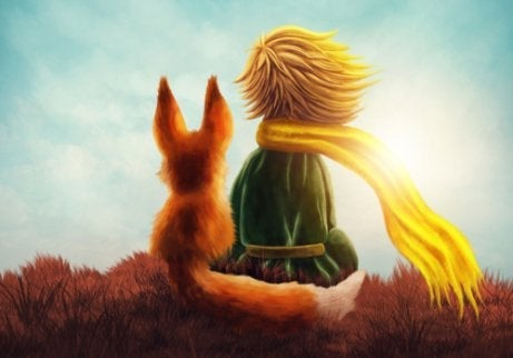 An illustration from The Little Prince.