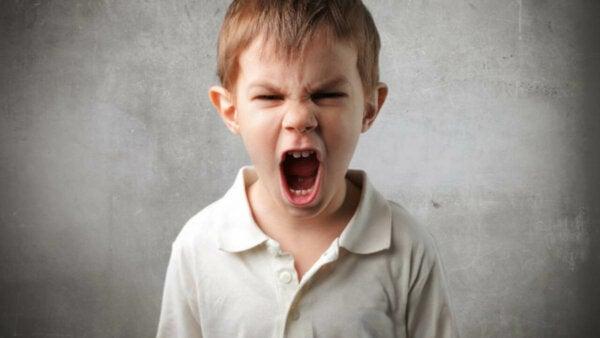An angry boy.