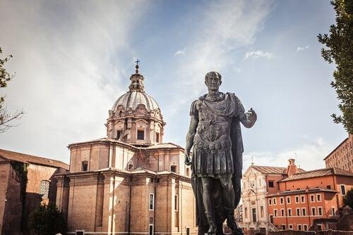 A statue of Julius Caesar.