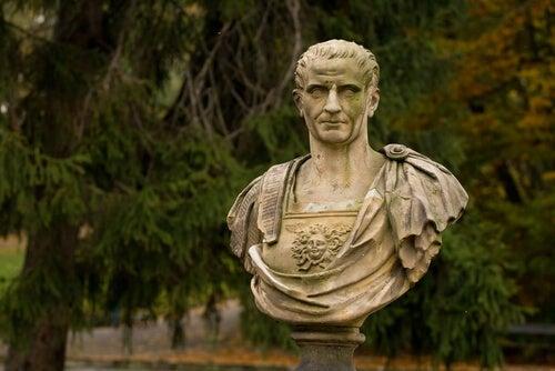 A bust of Julius Caesar.
