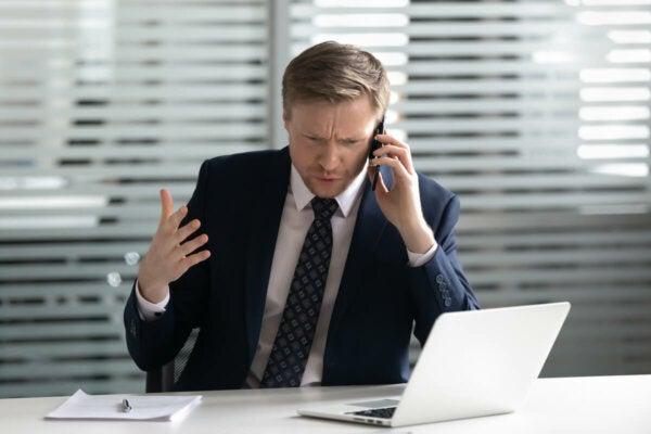 A man on a phone.